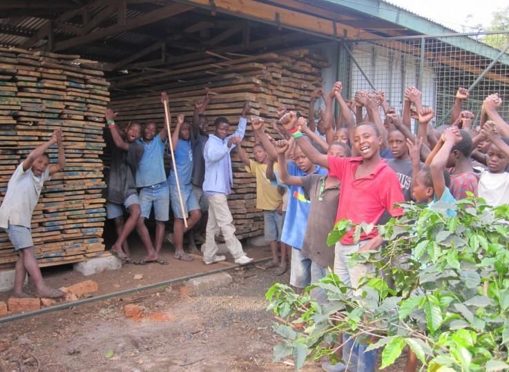 Watoto Foundation wood storage
