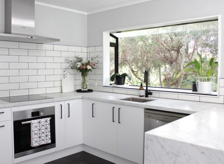 Kitchen with Black Fixtures